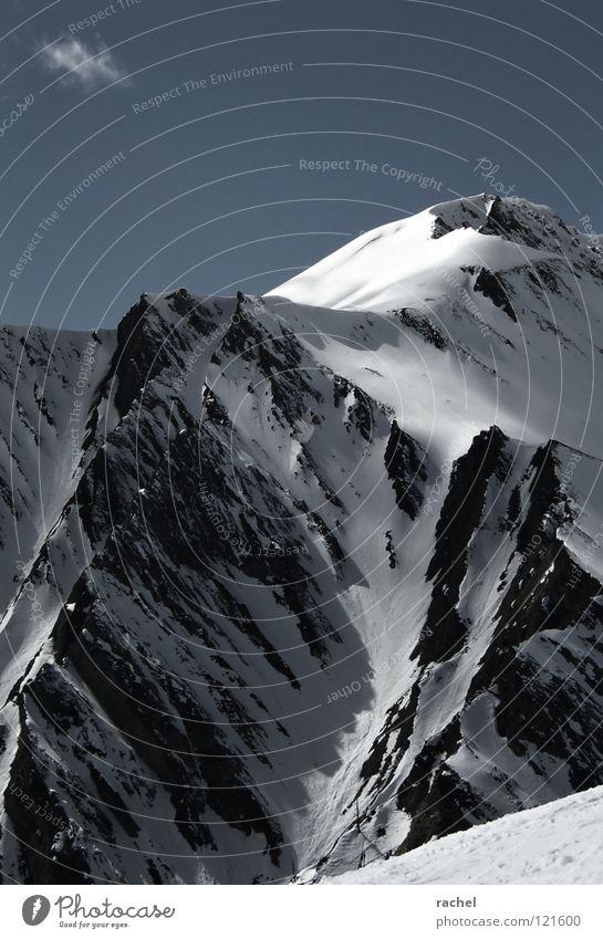 Dieses Wintersonnenlicht... Himmel Ferien & Urlaub & Reisen weiß Landschaft Wolken Freude Ferne kalt Berge u. Gebirge Schnee Felsen Tourismus Eis Aussicht groß