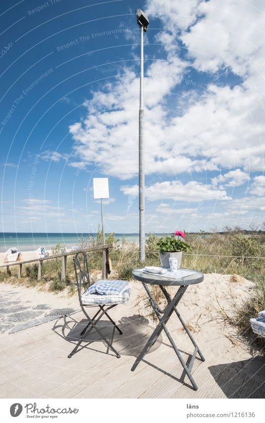 Strandcafe Ostsee Meer maritim Düne Stranddüne Himmel Tourismus