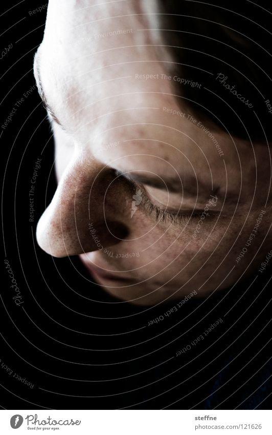Mike Krüger Porträt schwarz weiß braun dunkel ruhig Mann Kerl Mitarbeiter verschlafen Gesicht Kopf Haare & Frisuren black white face head contrast Kontrast