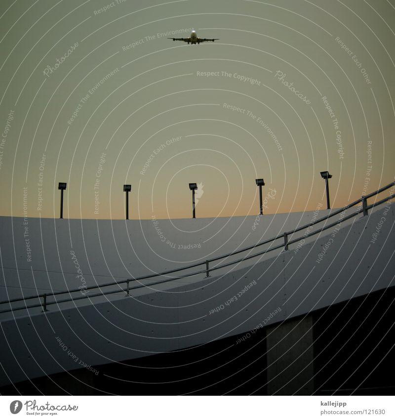 flugsaurier Himmel Ferien & Urlaub & Reisen Straße Architektur Lampe träumen Energiewirtschaft Luft Luftverkehr Beginn Beton Flugzeug Dach