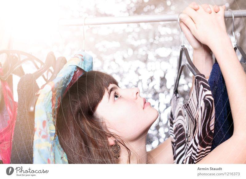 Neulich im Kleiderschrank XV Mensch Frau Kind Jugendliche schön Junge Frau Hand Gesicht Erwachsene Beleuchtung feminin Stil Glück Haare & Frisuren Lifestyle