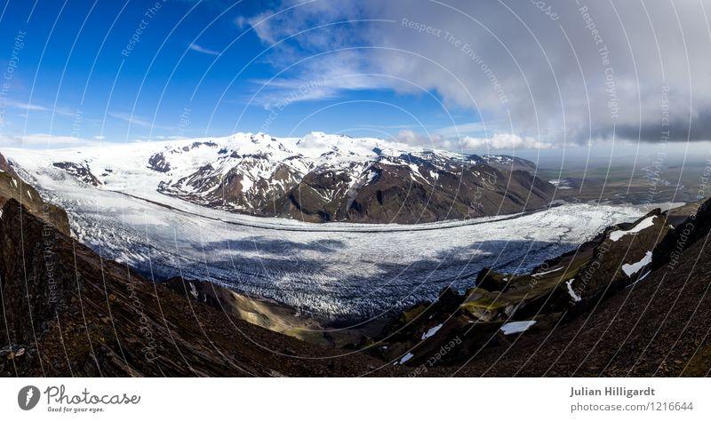 gletscherkurve Natur Ferien & Urlaub & Reisen Pflanze Landschaft Ferne Winter Umwelt Berge u. Gebirge Gefühle Schnee Freiheit Lifestyle Freizeit & Hobby Eis