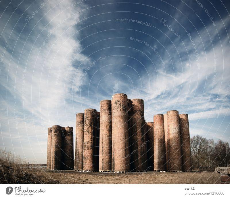 Konsens Technik & Technologie Industrie Landschaft Himmel Wolken Horizont Klima Wetter Schönes Wetter Bauwerk Gebäude Architektur Biotürme Lauchhammer