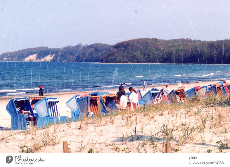 Rügen Meer Strand Strandkorb