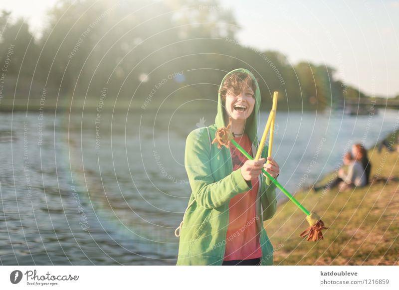 Summer, somewhere, someone, summer Sommer Wasser Erholung Bewegung feminin Spielen Glück lachen Zufriedenheit Freizeit & Hobby frisch authentisch frei