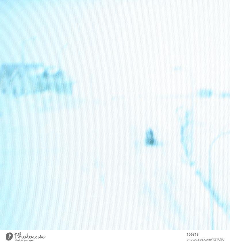 HIDDEN RENAISSANCE OF DEEPNESS blau grün weiß rot Haus Winter Fenster Wege & Pfade Schnee Kunst außergewöhnlich Lampe hell träumen Eis Perspektive