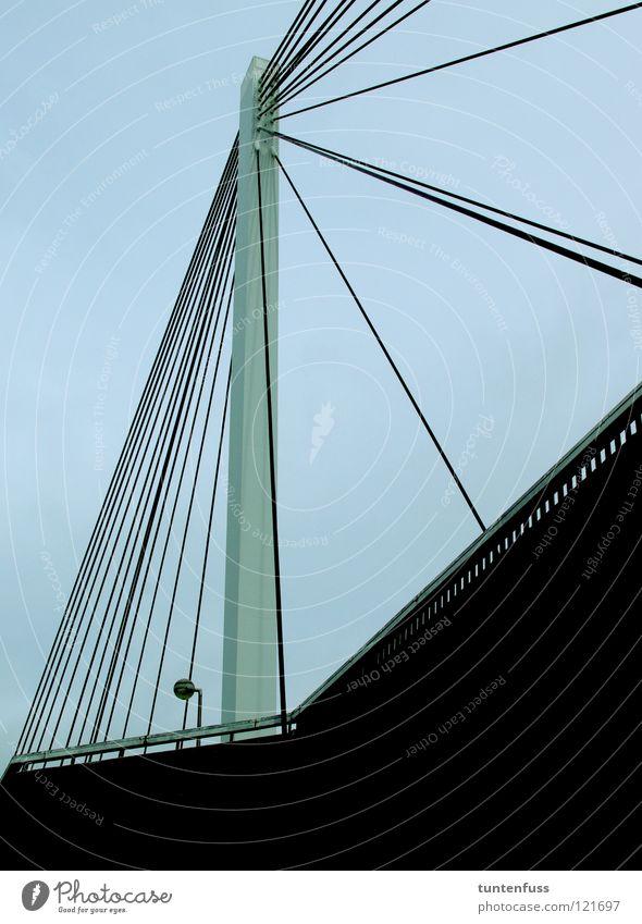 Abhängen Beton Seil Brücke modern Technik & Technologie Stahl Konstruktion Mannheim