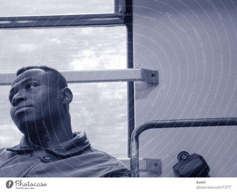 Schwarzer Mann schwarz Instant-Messaging Eisenbahn
