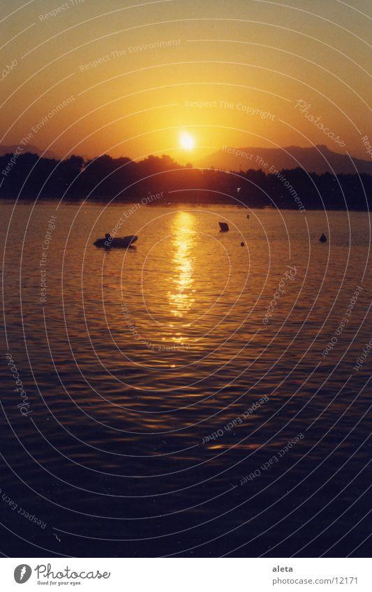 sonnenuntergang Sonne Meer Wasserfahrzeug