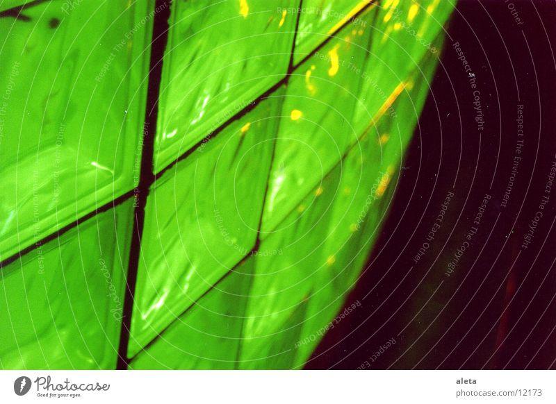 lichter grün Mauer Bar Club Glasbaustein