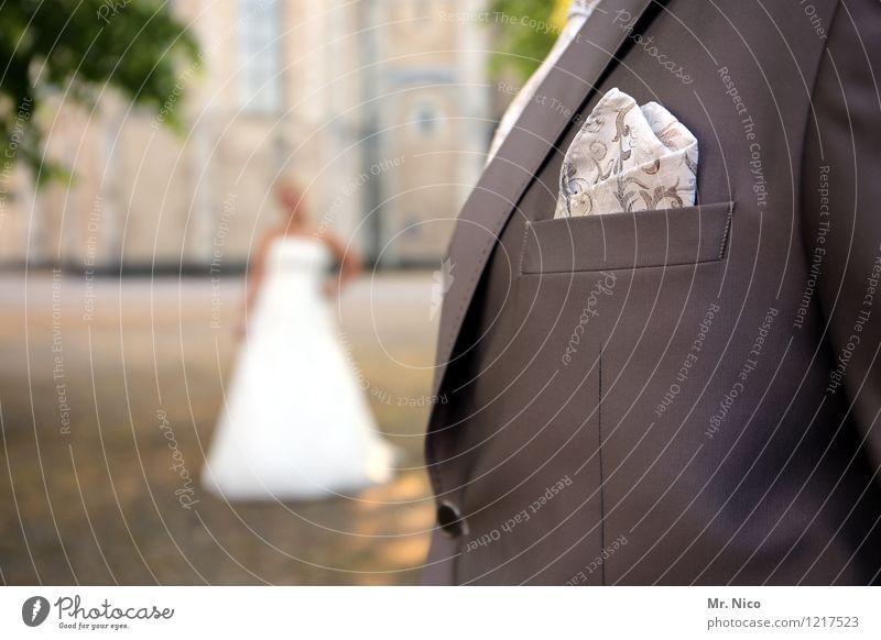 kleider machen leute Mensch feminin Stil Lifestyle Mode Paar maskulin Design elegant ästhetisch Bekleidung Hochzeit Kleid Anzug Tasche Accessoire