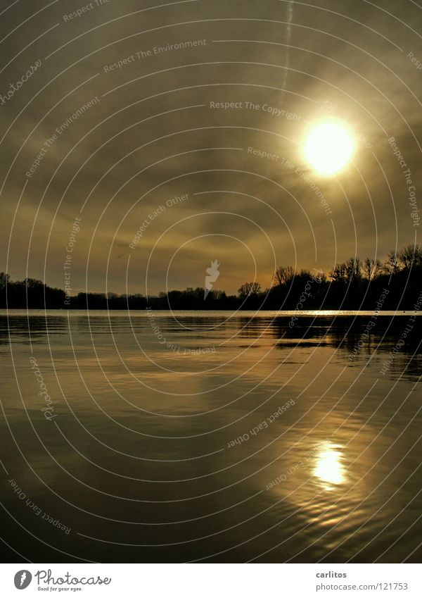 Das doppelte Sonnchen See Teich Gewässer Winter ruhig beschaulich Nachtruhe schweigen Sammlung Erholung Zufriedenheit beruhigend Trauer Verzweiflung Betreuung