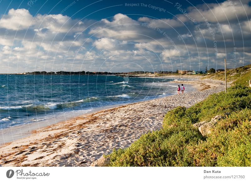 Abendstimmung. Wasser Himmel Freude Strand Ferien & Urlaub & Reisen Wolken Einsamkeit Freiheit träumen Wärme Sand Fröhlichkeit Sträucher Wüste Physik
