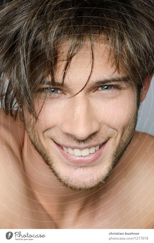killer smile Jugendliche nackt schön Junger Mann Erotik Freude 18-30 Jahre Erwachsene Gesicht Liebe natürlich Gesundheit Glück lachen authentisch Lächeln