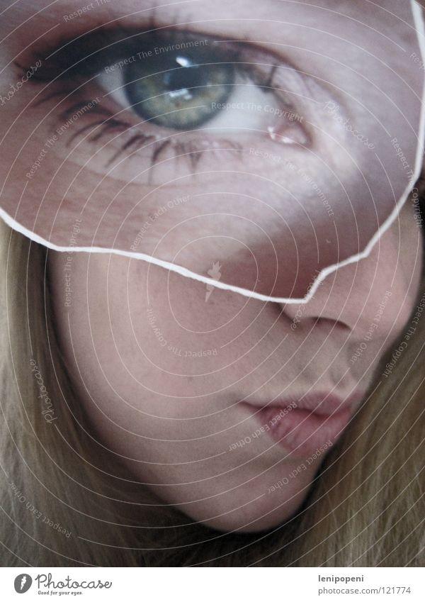 Patcheye Frau grün Gesicht Auge Haare & Frisuren Mund Fotografie blond Nase Ecke Lippen verstecken Tauschen ausgerissen