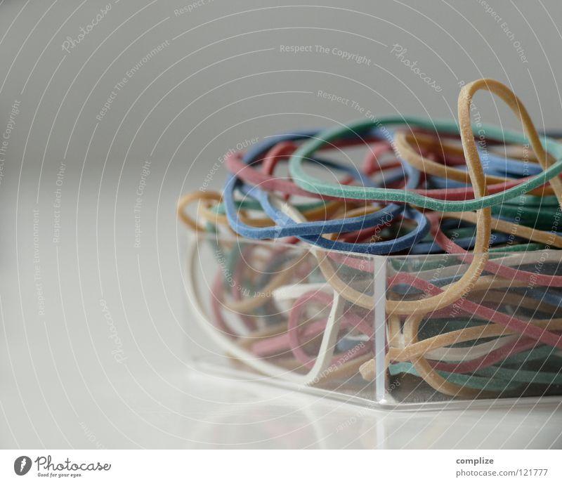 Gummis Schalen & Schüsseln Tisch Handwerk Schreibwaren viele beweglich Farbe gleich Verschiedenheit mehrere Schachtel dehnbar ausweitbar gummiband color colour
