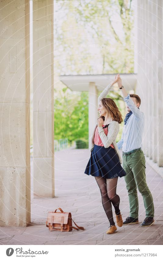Dance! Dance! Dance! Mensch Jugendliche schön Junge Frau Junger Mann Freude Leben Liebe Bewegung Stil Glück Feste & Feiern Lifestyle Paar Zufriedenheit