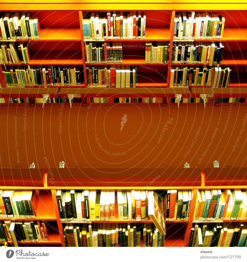 ::BÜCHERWURM:: lesen Bildung Information Regal Bibliothek rot Jugendstil Buch Schulbücher Roman Lexikon üben Printmedien Literatur Verständnis Vogelperspektive