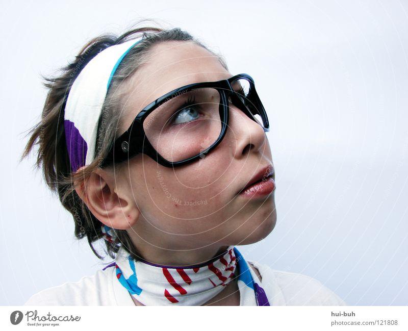Was ist heut nur wieder für`n Tag ?? Lebenslauf Brille dumm Schal mehrfarbig Hintergrundbild Denken Fragen staunen lustig Humor hui-buh Blick Nase Gesicht