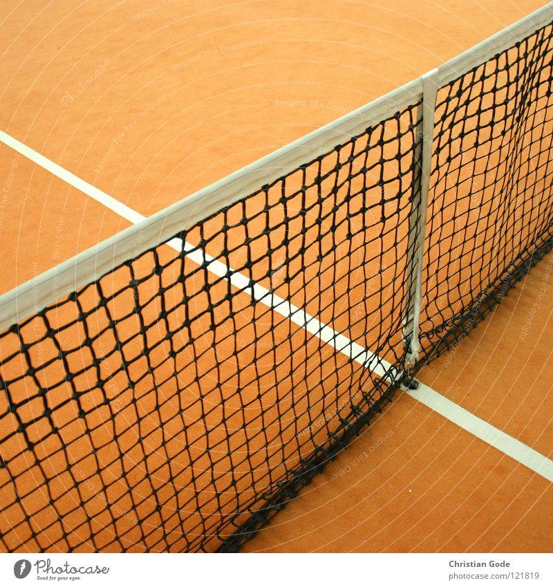Netz grün weiß Winter Sport Spielen springen Linie orange Geschwindigkeit Lagerhalle Teppich Tennis Aufschlag Ballsport reserviert