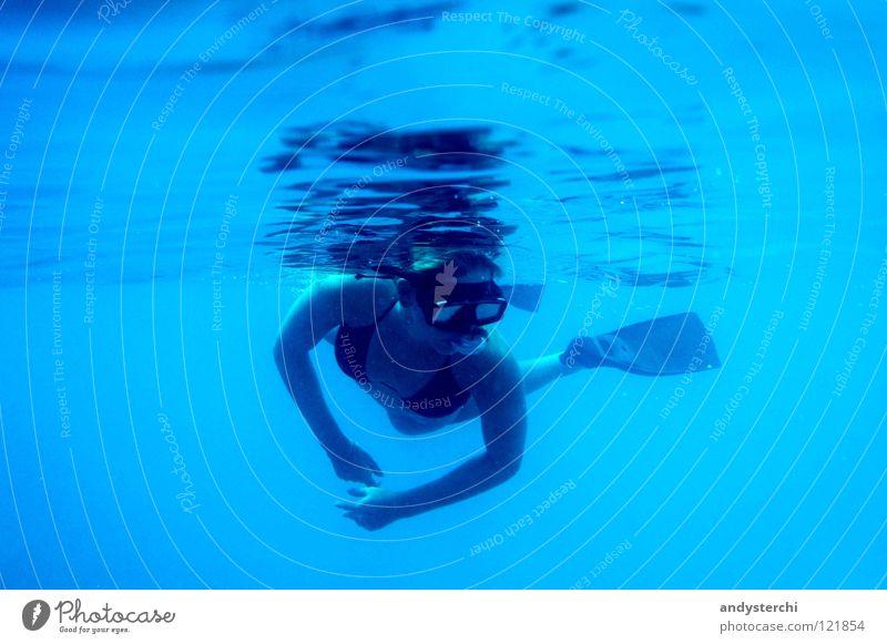 Dive The Ocean tauchen Taucher Tauchgerät Meer Indischer Ozean Malediven Taucherbrille Bikini Schwerelosigkeit Schnorcheln Indien Schwimmen & Baden Wasser