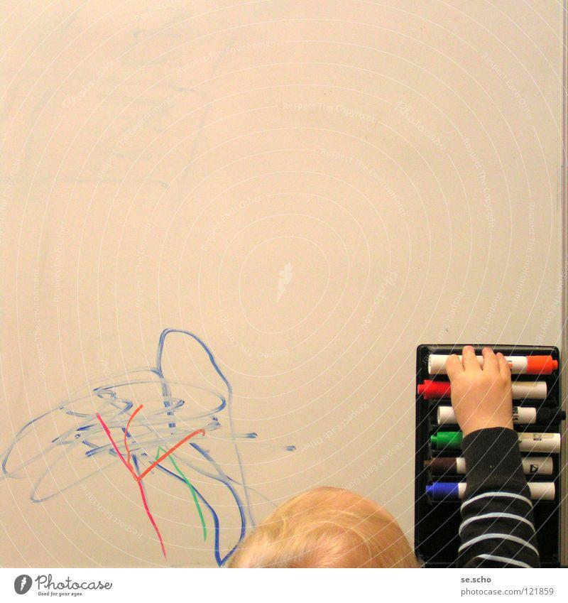 Begabtenförderung Kind Farbe Kunst blond Schilder & Markierungen lernen Bildung streichen Schreibstift Kreativität Kleinkind Wissen Auswahl