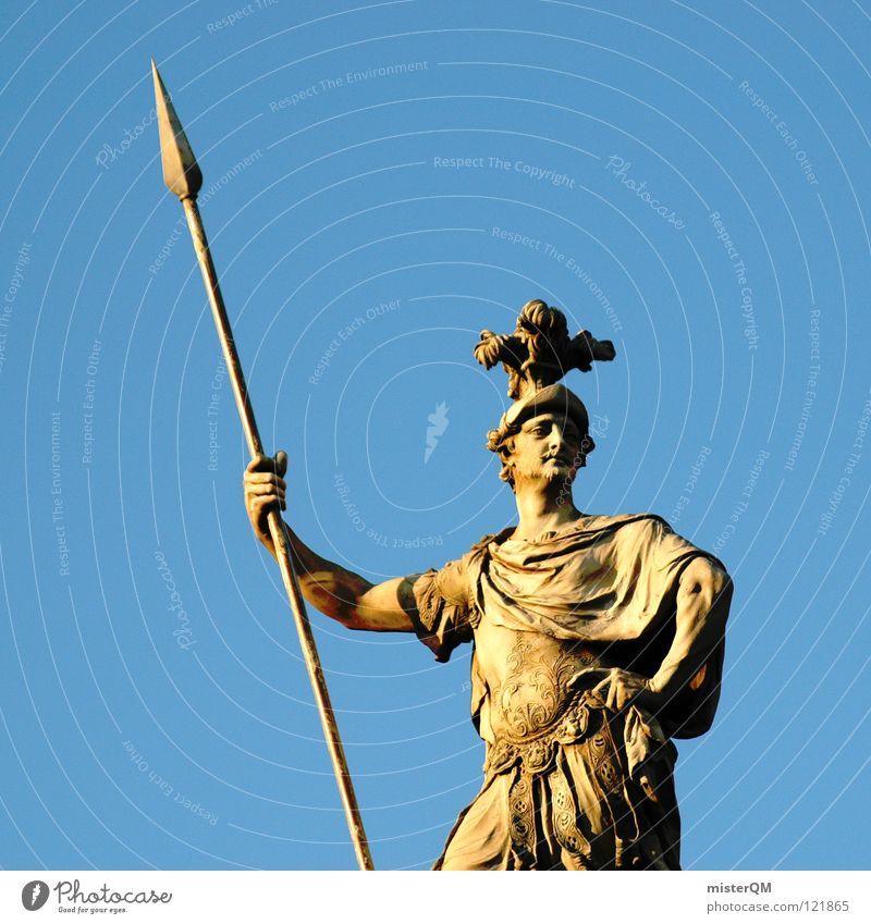 wants love. Mann Waffe Himmel Helm Skulptur Schmuck Rom Treue gefährlich Krieger Italien historisch Lanze Quadrat Hand Griff Zukunft Aussicht Richtung stark