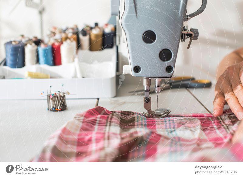 Mode Metall Arbeit & Erwerbstätigkeit Design Bekleidung Industrie Kleid Stoff Fabrik Material Handwerk machen Werkzeug Maschine Mitarbeiter Fuge