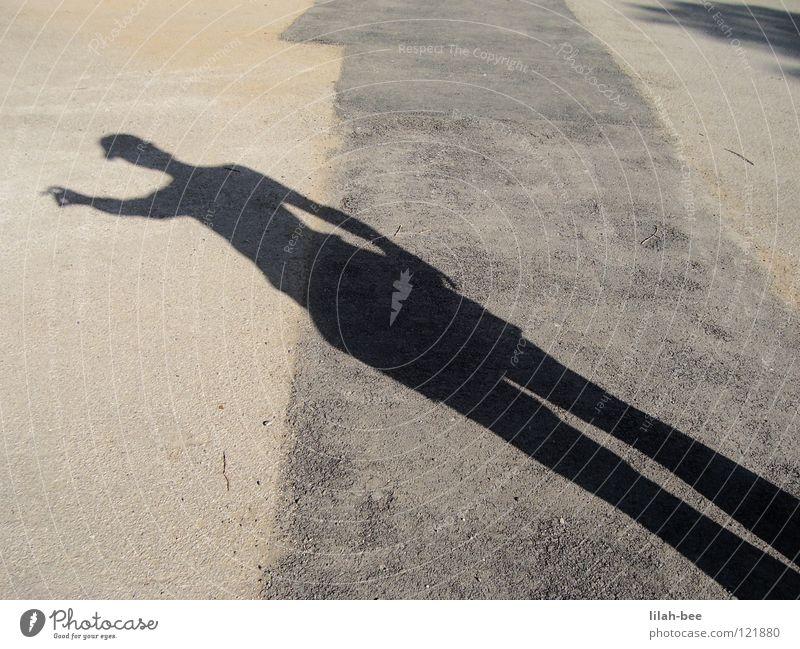 Wo ist Walter? Suche finden Licht Mann Finger Park Verkehrswege Kunst Kultur walter wer suchet der findet Wege & Pfade Straße Schatten Mensch zeigen Stein