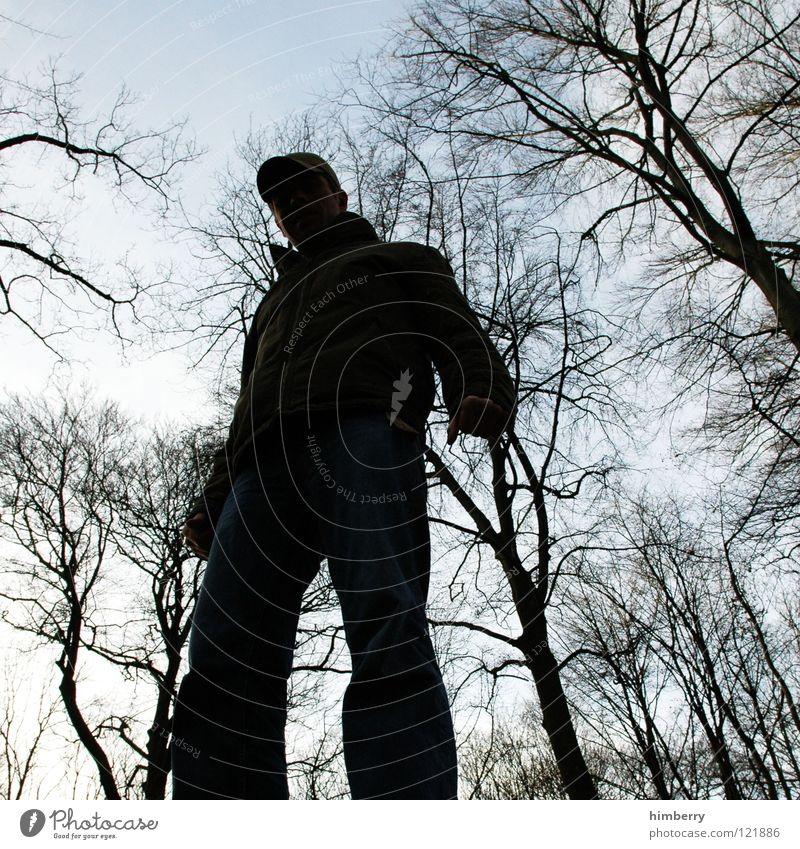 where light is blocked III Mensch Mann Jugendliche Himmel Baum schwarz dunkel