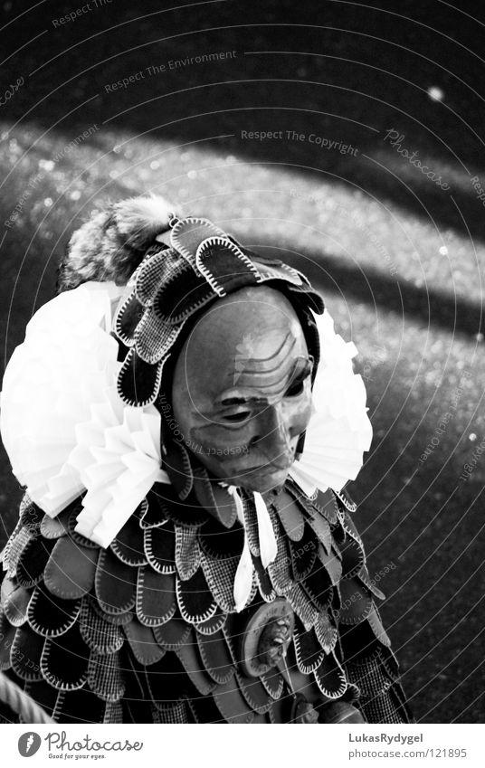 Traurige Fasnacht Holz Traurigkeit Trauer Maske Karneval Verzweiflung Karnevalskostüm