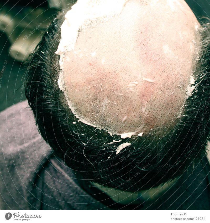 Oscar goes Ewald Mensch Freude Kopf Haare & Frisuren Stil liegen Design Stuhl T-Shirt Karneval Hemd Dienstleistungsgewerbe Friseur Glatze Waschen kahl