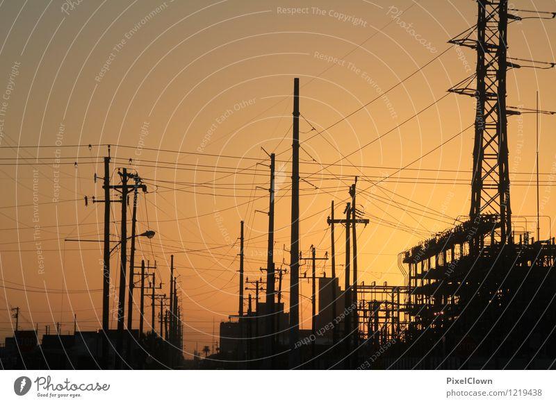 Irgendwo in Texas Ferien & Urlaub & Reisen Stadt Energiewirtschaft orange Tourismus trist Technik & Technologie Industrie trashig Erneuerbare Energie