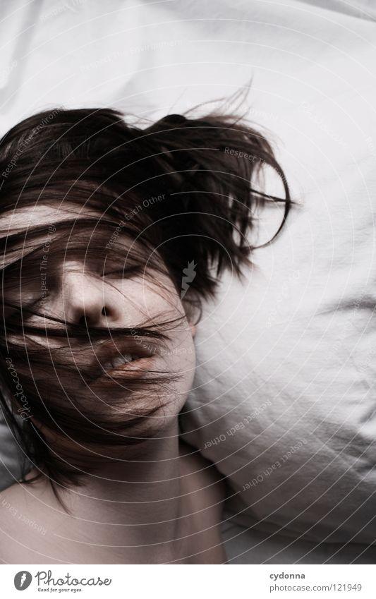 Siehst Du mich, seh' ich Dich II Frau Mensch Natur schön schwarz ruhig feminin Leben Gefühle Kopf Bewegung Haare & Frisuren Stil Traurigkeit träumen Kunst