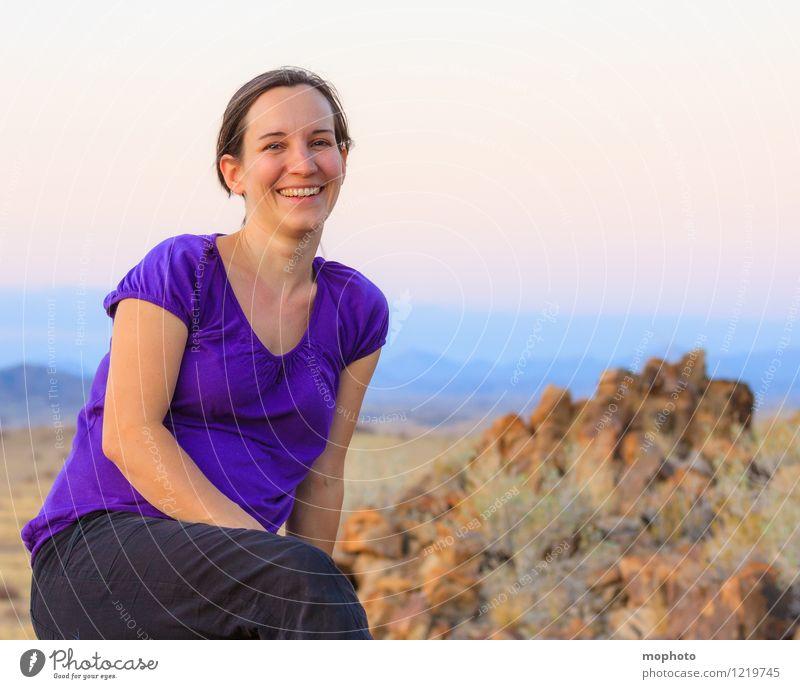Portrait in Abendstimmung #1 Wohlgefühl Zufriedenheit Ferien & Urlaub & Reisen Safari Mensch feminin Junge Frau Jugendliche Mutter Erwachsene 30-45 Jahre Natur