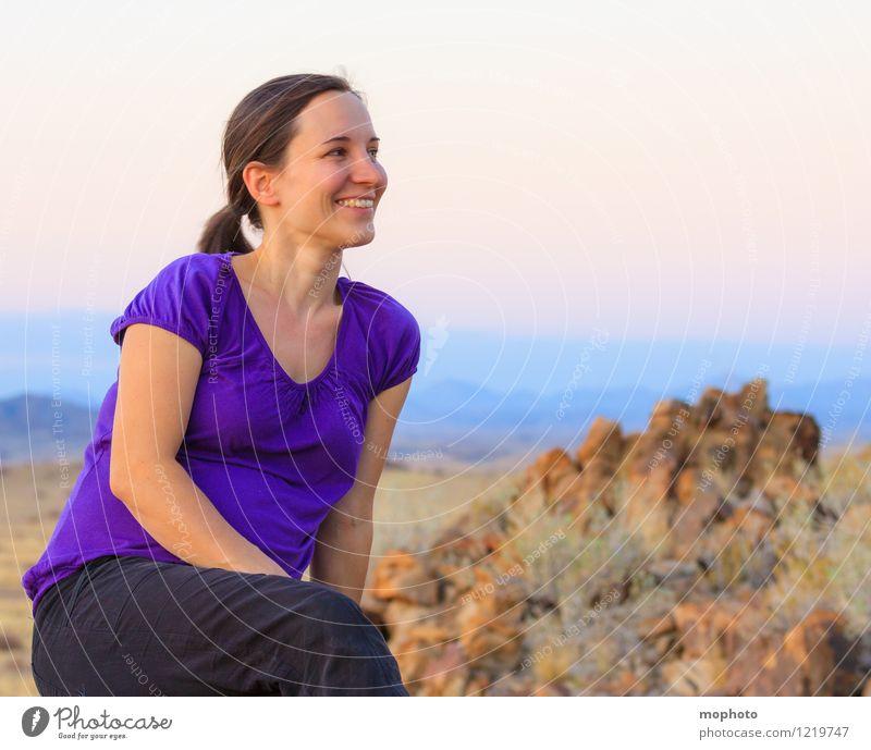 Portrait in Abendstimmung #2 Mensch Frau Natur Ferien & Urlaub & Reisen Jugendliche Junge Frau Erholung Landschaft Erwachsene feminin Glück braun Stimmung