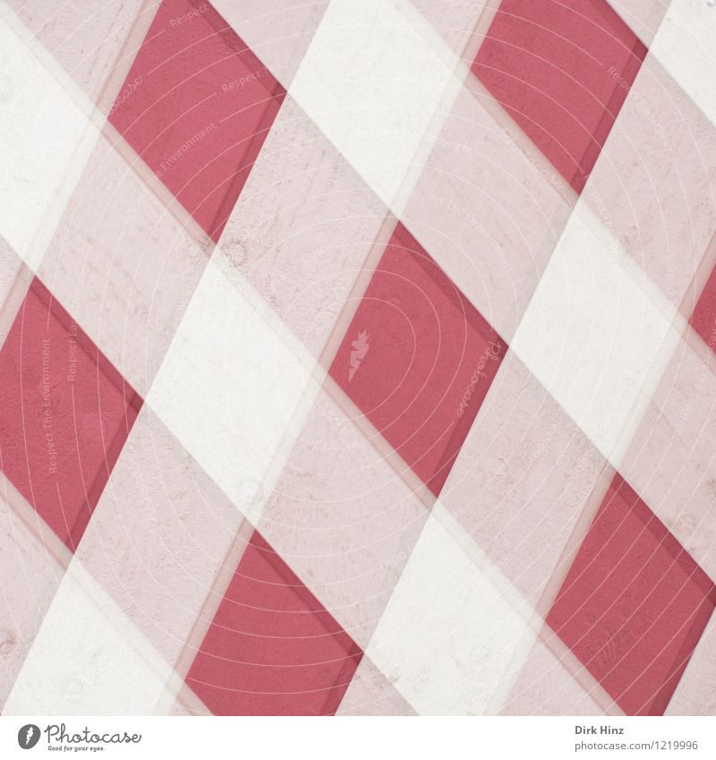 Rautenmuster weiß rot Wand Stil Kunst rosa Design Ordnung Perspektive ästhetisch Kreativität Zeichen Netzwerk Holzbrett Surrealismus Präzision
