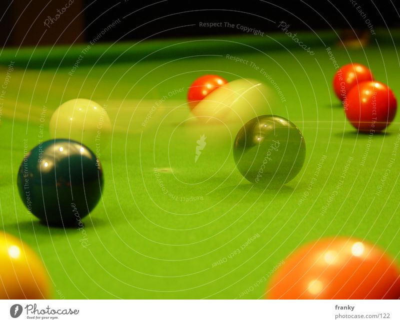 snooker2 Snooker Billard Langzeitbelichtung