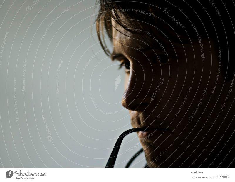 Der Denkende Mann Verstand klug Problemlösung tiefgründig