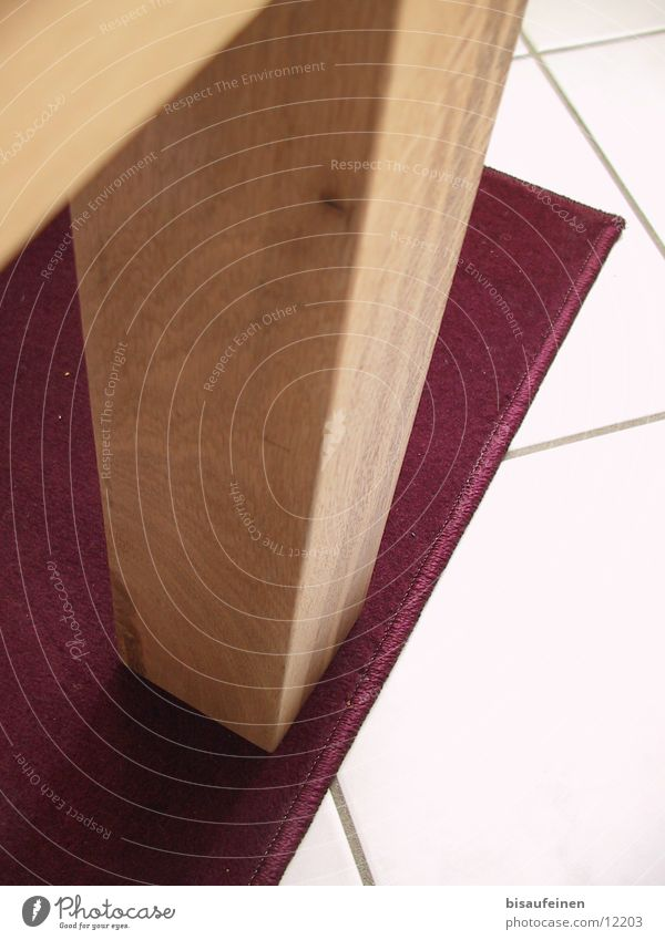 Gebein... Teppich Holz Eiche massiv Häusliches Leben Tischbein Beine Fliesen u. Kacheln