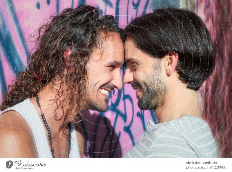 alles pink pong Mensch Jugendliche schön Erotik 18-30 Jahre Erwachsene Leben Glück maskulin authentisch frei Sex Warmherzigkeit einzigartig Coolness nah