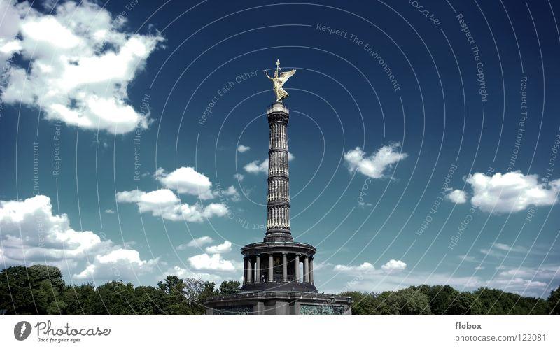 Sommer 07.. Siegessäule Goldelse Wahrzeichen Attraktion Tourismus Städtereise Aussichtsturm Symbole & Metaphern Kunst Sightseeing Denkmal Statue Angelrute