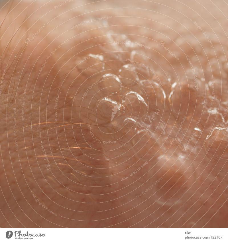 kaltes Nass Physik nass sprudelnd Flüssigkeit Makroaufnahme Nahaufnahme Haut Haare & Frisuren Wasser Wärme Blase