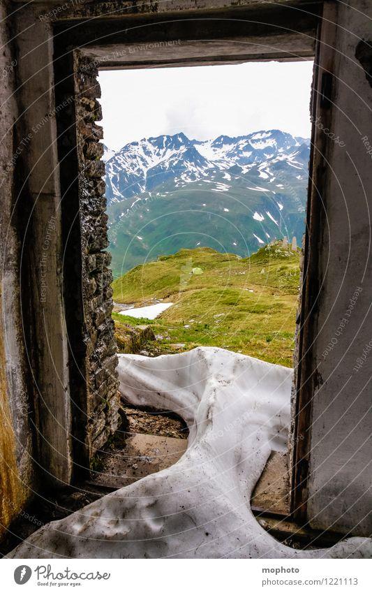 Wintereinbruch Schnee Berge u. Gebirge Haus Raum Umwelt Natur Landschaft Frühling Klima Klimawandel Wetter Unwetter Eis Frost Schneefall Schneebedeckte Gipfel