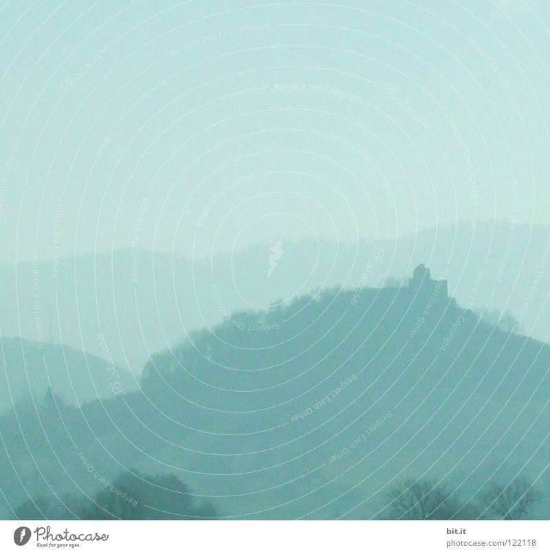 AUSSICHT Himmel Natur blau Baum Ferien & Urlaub & Reisen Winter Einsamkeit Wald Ferne kalt Schnee Berge u. Gebirge Luft Linie Horizont Deutschland