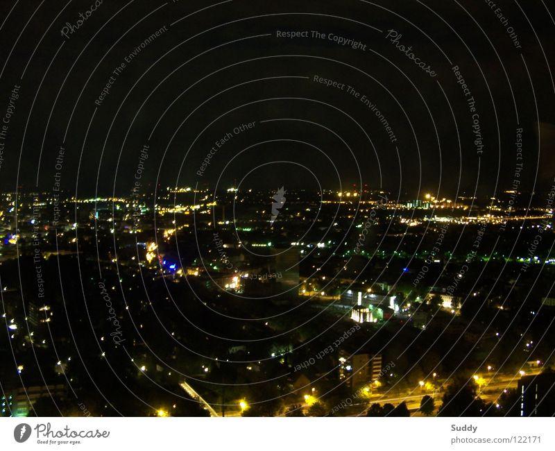 Illumination Arbeit & Erwerbstätigkeit Turm Skyline Ruhrgebiet Belichtung Nachtleben Nachtaufnahme Dortmund