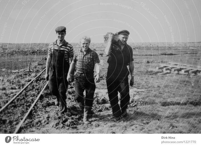 Deichbauer Arbeit & Erwerbstätigkeit Handwerker Baustelle Mensch maskulin Junger Mann Jugendliche Erwachsene 3 Menschengruppe 18-30 Jahre alt historisch
