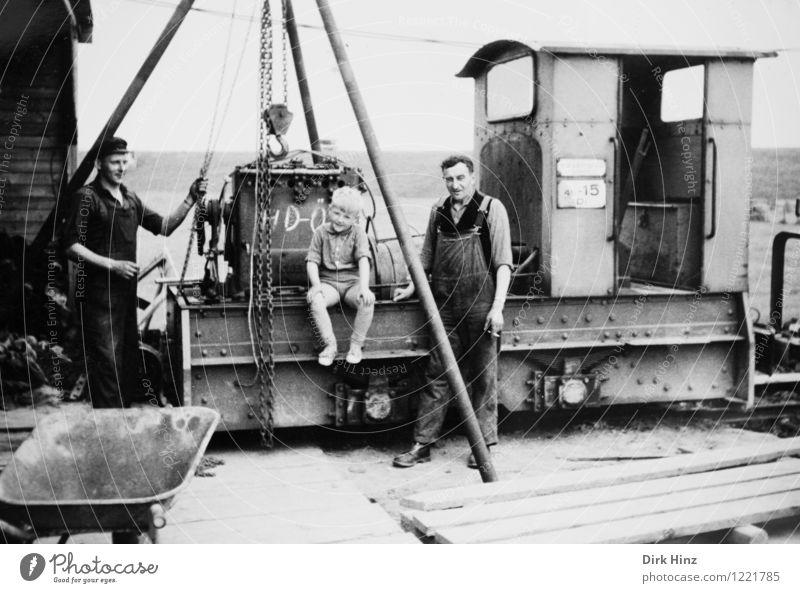 Deichbauer Mensch Kind Jugendliche Mann alt Junger Mann 18-30 Jahre Erwachsene Arbeit & Erwerbstätigkeit maskulin Kindheit Eisenbahn historisch Vergangenheit
