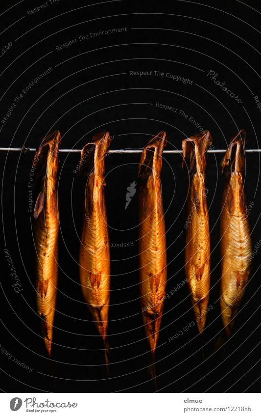 frisch geräuchert Meer Strand leuchten gold Ernährung Insel genießen Fisch lecker Appetit & Hunger hängen Sommerurlaub Vorfreude Abendessen Mittagessen