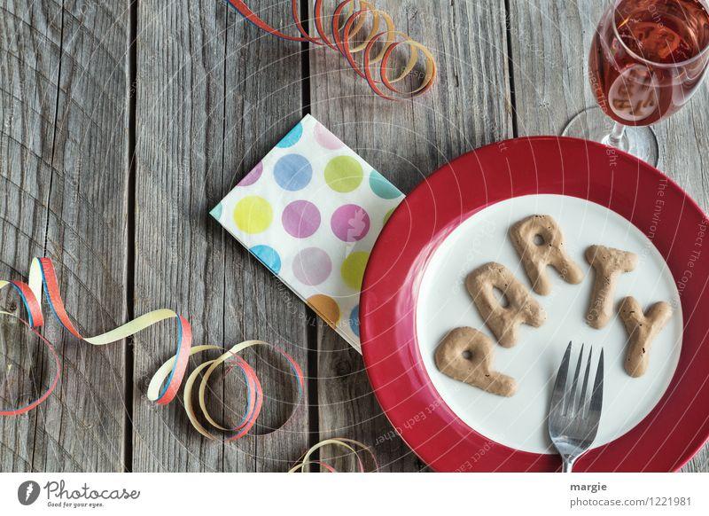 PARTY Ernährung Getränk Erfrischungsgetränk Sekt Prosecco Geschirr Teller Glas Sektglas Gabel Freude Dekoration & Verzierung Party Veranstaltung Restaurant Club